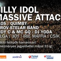 Billy Idol és Massive Attack az idei VOLT-on