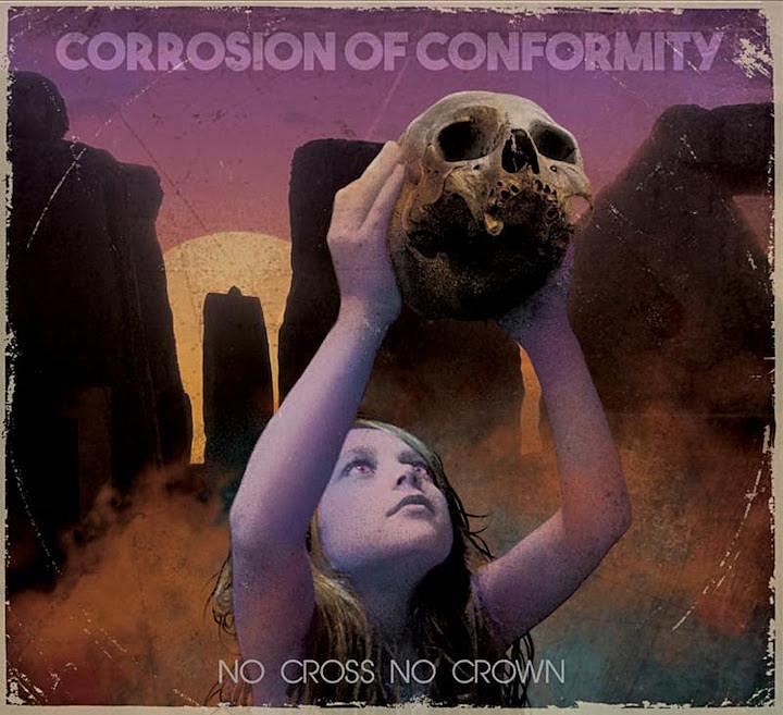 Corrosion of Conformity - No Cross No Crown<br /><br />Visszatért a zenekarba Pepper Keenan, aki mint a régi szép időkben, magára vállalta a gitárosi és énekesi pozíciót. Ennek az összeborulásnak már lassan négy éve, így az összeérésre, illetve annak hiányára már nem lehet hivatkozni. Várjuk a dögöt! Péntekig pedig már csak párat kell aludni.