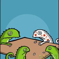 Póker kaméleon módra