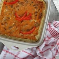 Paprikás csirke quiche