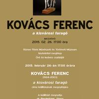 Kovács Ferenc - a kisvárosi faragó