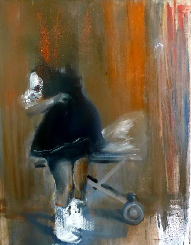 3.Pocakos lány, 80x70cm,vegyes technika, 2011..JPG