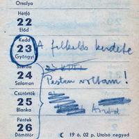Édesapám naplója: a felkelés kezdete