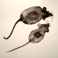 Watercolor mice