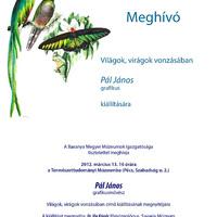 Meghívó Pál János grafikus