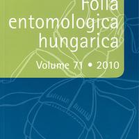Megjelent! Folia entomologica hungarica 2010