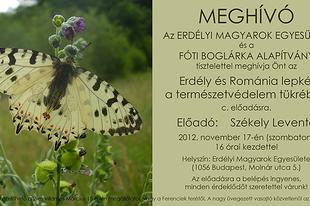 Székely Levente: Erdély és Románia lepkéi a természetvédelem tükrében
