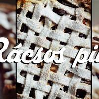 Rácsos pite almával és szilvával