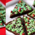 Brownie karácsonyfa