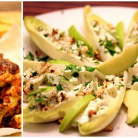 Sörös-ketchupos ragacsos csirkeszárnyak és Waldorf saláta