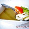 Édeskömény krémleves mandarinnal és balzsamecettel