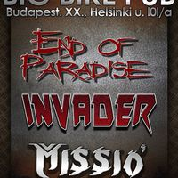 BIG BIKE PUB - End of Paradise, Invader és Missió (november 11.)
