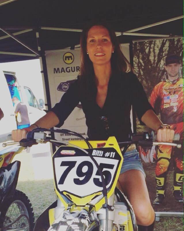 Motocross Szőke Márk motorjával