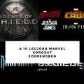 A 10 legjobb Marvel sorozat sorrendben