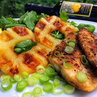 Grillezett makréla ananásszal és rukkolával