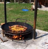 Grill füstölő fa
