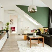 Stílusos és szellős tetőtéri lakás Budapesten