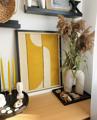 DIY texturált falikép jógamatracból