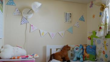 DIY: Mókás zászlófüzér a gyerekszobába