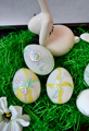 Tradicionális magyar minták, nem tradicionális módon a húsvéti tojásokon