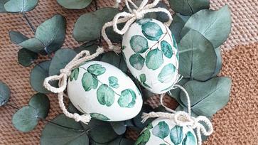Eukaliptuszos húsvéti tojások