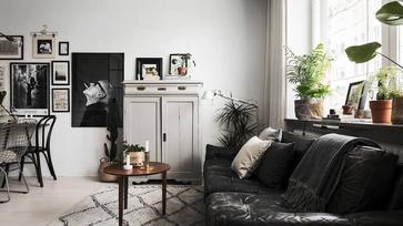 Kicsi svéd lakás a fekete bűvöletében