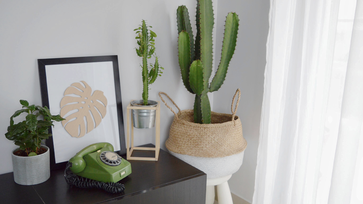 Szuper gyorsan elkészíthető, minimalista virágállvány