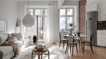 Egy igazán hangulatos, másfél szobás svéd lakás