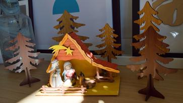 Betlehem festegetés gyerkőccel