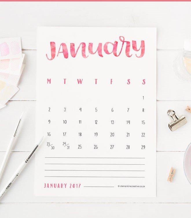 free-printable-2017-hand-lettered-calendar-pinterest