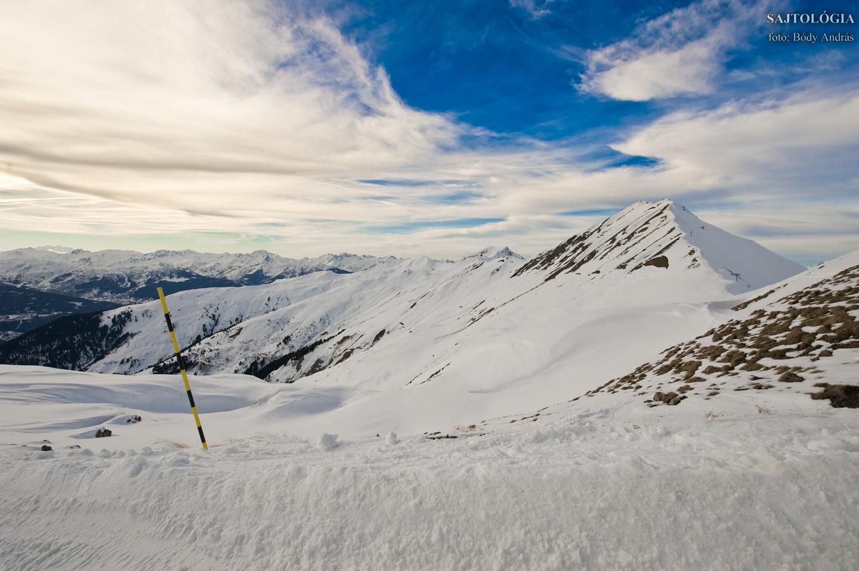 Kilátás a Les Verdons csúcsról.