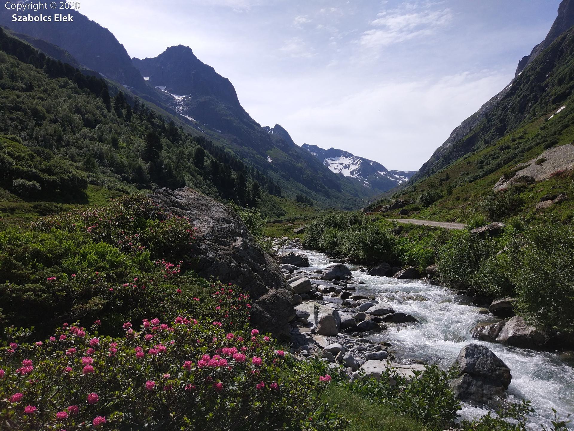 Gyönyörű völgy a Verwall hegységben