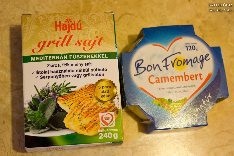 Hajdú grill: ehető grillsajt, de nem dobok tőle hátast. Bon Fromage Camembert: ez pont lemaradt a nagy tesztről, mert hónapokig nem kaptam sehol. Most bezzeg mindenhol ott van. Finom grillezett Camembert készült belőle!