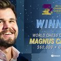 A verseny győztese: Magnus Carlsen, 2. Wesley So, 3. Jan Nepomniachtchi  - Champions Chess Tour - FTX Crypto Cup 2021-05-23 - 31