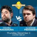LIVE! - 18:00 - Élő játszma és videó közvetítéssel -   Elite Speed Chess Championship - Carlsen 13,5-9,5 Artemiev, Nakamura 21,5-5,5 Fedoseev