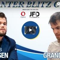 LIVE! - Carlsen - Grandelius -  Videó - Шахматы блиц ♕ Магнус Карлсен - Нильс Гранделиус ⏰ 2 апреля, 19.50 мск