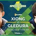 A 18 éves amerikai Xiong jutott tovább - Junior Speed Chess Championship - Xiong vs. Gledura  - Hajrá Benjámin!