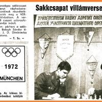 Velünk élő történelem - 47 éve történt - III. országos sakkcsapat villámverseny 1972