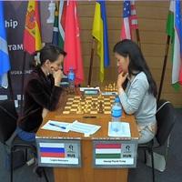 LIVE! - 11:00 - Women's Knockout World Championship 2018 | Khanty-Mansiysk, Russia - 32 közé jutott Hoang Thanh Trang -  Lagno Kateryna (RUS) 0.5 - 0.5  Hoang, Thanh Trang (HUN)