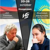 GM Jan Timman (Holland - 68 éves - Élő: 2528)  - WGM Zhansaya Abdumalik (Kazahsztán - 19 éves - Élő: 2472) - 2019-10-20- 26
