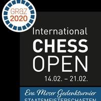 Végeredménnyel! - International Chess Open Graz 2020 - 02 - 14 - 21 - A verseny győztese: A 18. évében járó Shevchenko Kirill (2580) nagymester 9/7,5