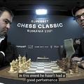 A verseny győztese: Mamedyarov Shakhriyar 6 pont -  Grand Chess Tour Superbet Chess Classic - Romania 2021 - Grand Chess Tour ™ 2021 Bukarest, Románia - 2021-06-05 - 14 - Rapport Richárd: betegség miatt igazoltan távol