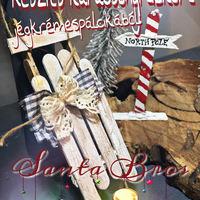 Készíts karácsonyi dekort jégkrémespálcikából!