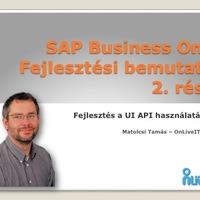 SAP Business One UI-API lehetőségei