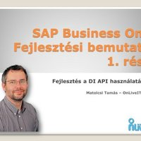 SAP Business One DI-API lehetőségei