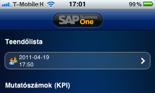 SAP Business One iPhone tevékenység