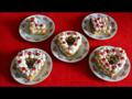 Szív alakú mini süti