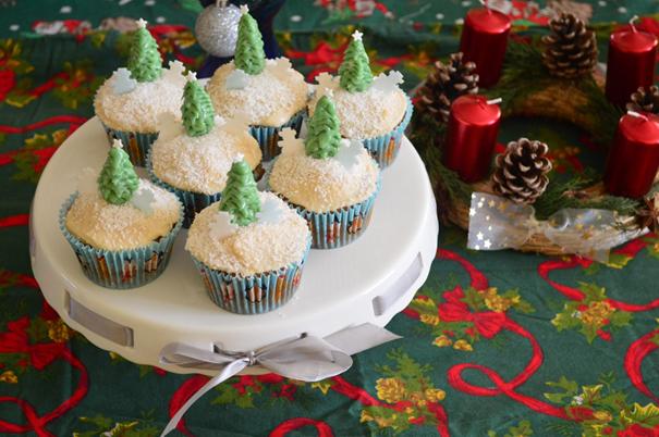 Karácsonyi cupcake