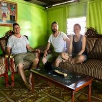 Ilyen egy helyi család háza Sulawesin