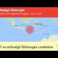 7-es erősségű földrengés Lombokon, friss információk